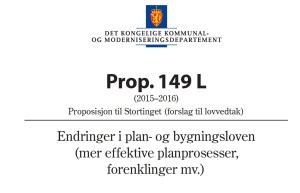 Prop. 149 L (2015-2016)